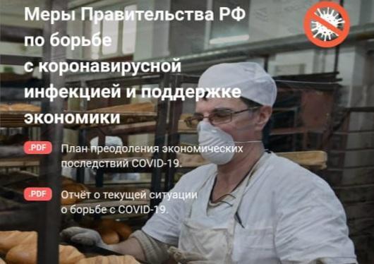 Правительство запустило информационный сервис о мерах поддержки граждан и бизнеса в условиях коронавируса